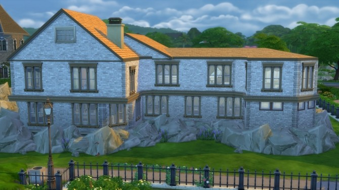 Sims 4 Stonehaven house by Nuttchi at Mod The Sims