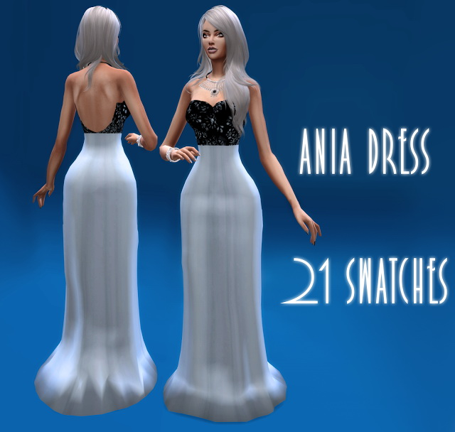 Sims 4 Ania dress at BlueRose Sims