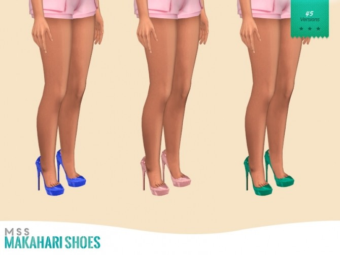 Sims 4 Makahari Shoes by midnightskysims at SimsWorkshop
