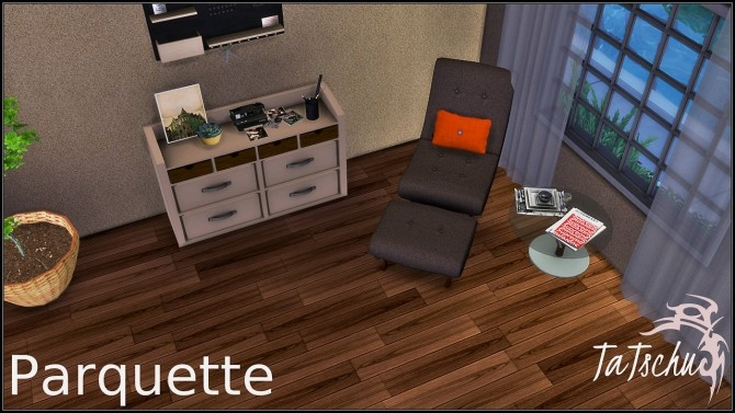 Sims 4 Dark parquette floor at TaTschu`s Sims4 CC