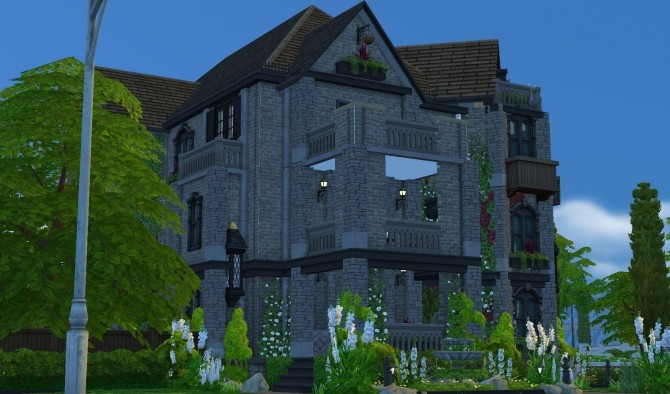 Sims 4 Christina Fiona Mansion by Greenplumbbob at Mod The Sims