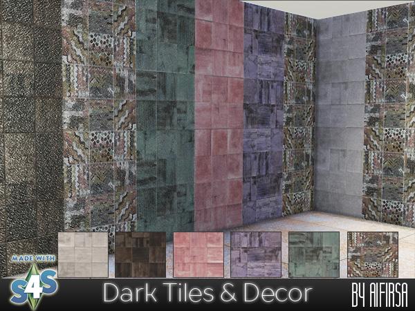 Sims 4 Dark Tiles & Decor at Aifirsa