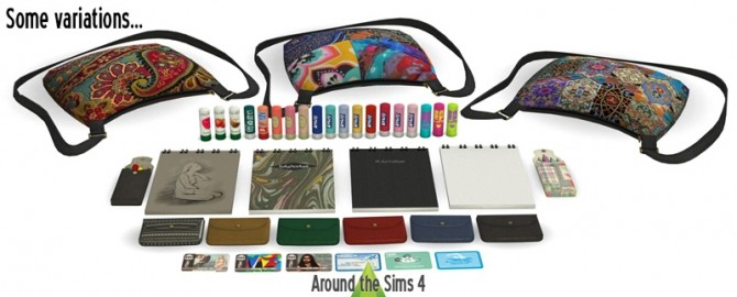 Sims 4 Handbag clutter Clem at Around the Sims 4