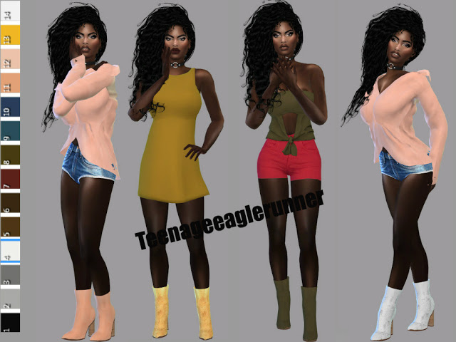 Ankle Boot Recolor at Teenageeaglerunner image 795 Sims 4 Updates