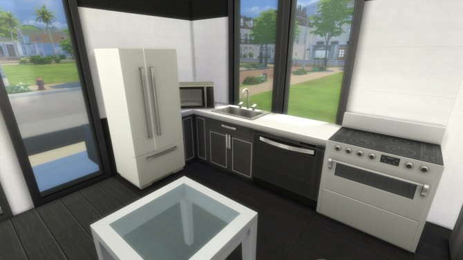 Simple modern house by malwa1216 at mod the sims sims 4 for Simple modern house sims 4