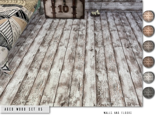 Sims 4 Aged Wood Set 05 by Torque at TSR