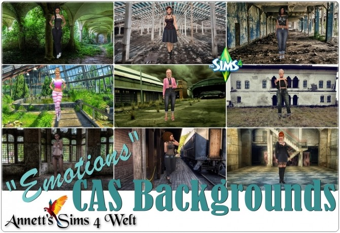 Sims 4 Emotions CAS Backgrounds at Annett's Sims 4 Welt