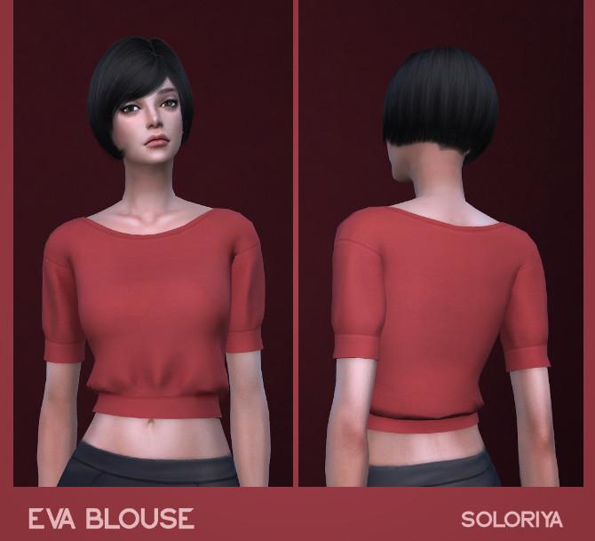 Sims 4 Eva blouse at Soloriya