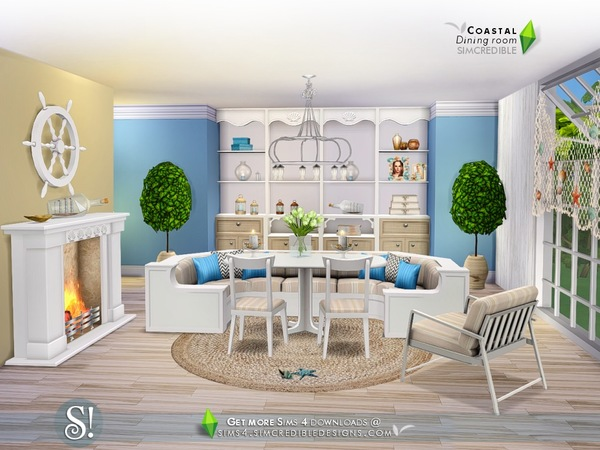 Coastal Dining room by SIMcredible at TSR image 8100 Sims 4 Updates