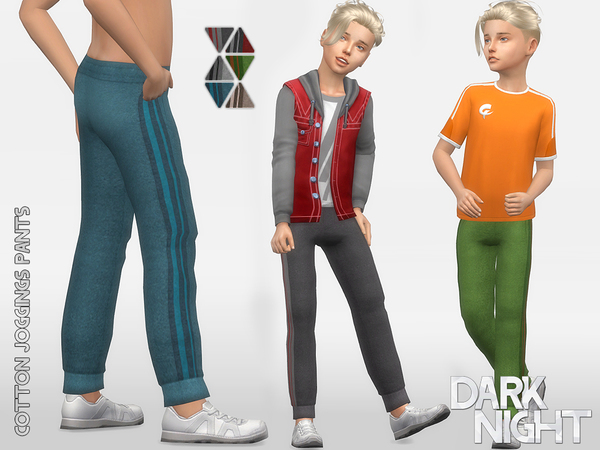 Cotton Joggings Pants by DarkNighTt at TSR image 8103 Sims 4 Updates