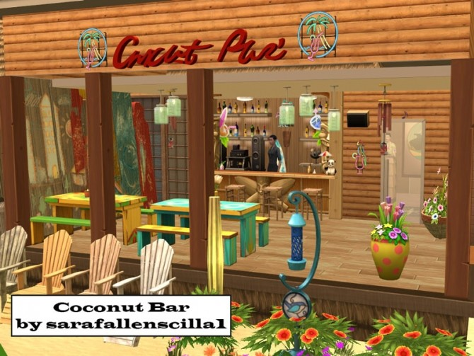 Coconut Bar by sarafallenscilla1993 at Mod The Sims image 8121 670x503 Sims 4 Updates