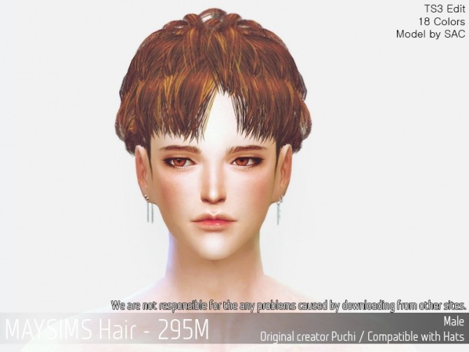 Sims 4 Hair 295M (Puchi) at May Sims