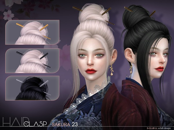 Hair clasp by S club at TSR image 816 Sims 4 Updates