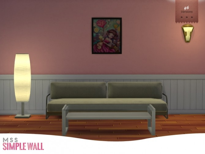 Simple Wall by midnightskysims at SimsWorkshop image 8211 670x503 Sims 4 Updates