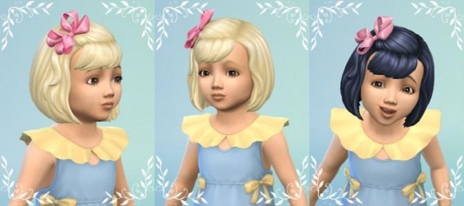 Sims 4 BowHair with Bangs at Birksches Sims Blog