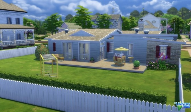 Sims 4 Boxy house by Dusims at L'UniverSims