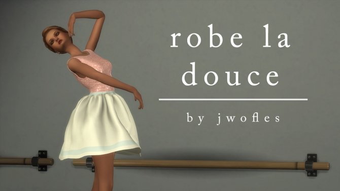 Ballet Dress By Jwofles At Mod The Sims 187 Sims 4 Updates