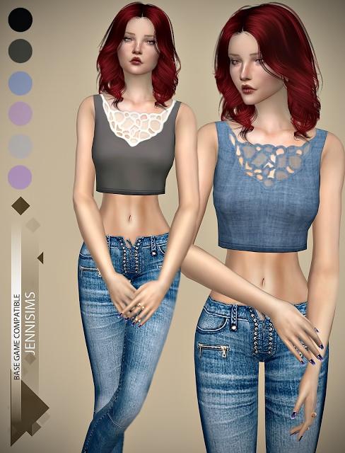 Sims 4 Bombshell top at Jenni Sims