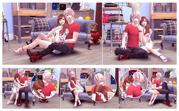 Couple Pose 02 at A luckyday image 877 Sims 4 Updates