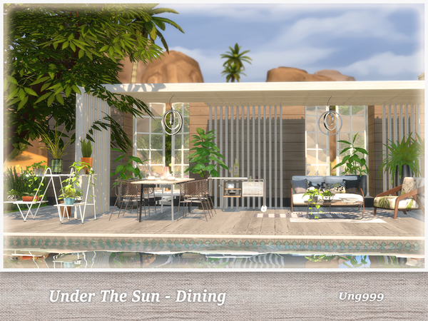 UNder The Sun Dining by ung999 at TSR image 890 Sims 4 Updates