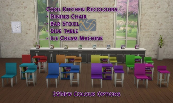 4 Cool Kitchen Objects Recolour 32 New Colours by simsessa at Mod The Sims image 898 670x400 Sims 4 Updates