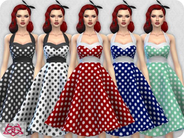 Sims 4 Sarah dress RECOLOR 2 by Colores Urbanos at TSR