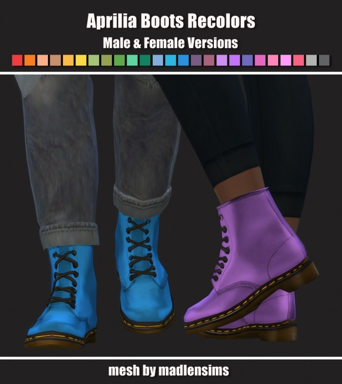 Aprilia Boots Recolors at Maimouth Sims4 image 903 670x752 Sims 4 Updates