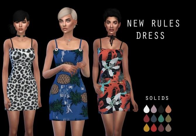 Sims 4 Newrules Dress at Leo Sims