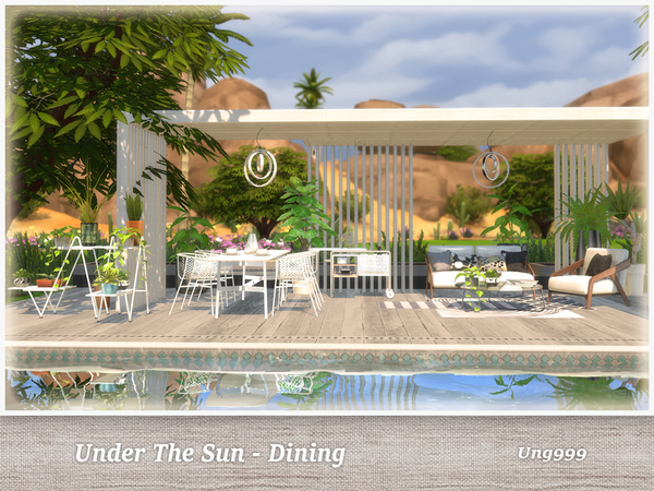 UNder The Sun Dining by ung999 at TSR image 9100 Sims 4 Updates