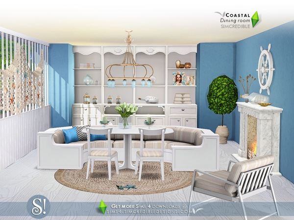 Coastal Dining room by SIMcredible at TSR image 9101 Sims 4 Updates