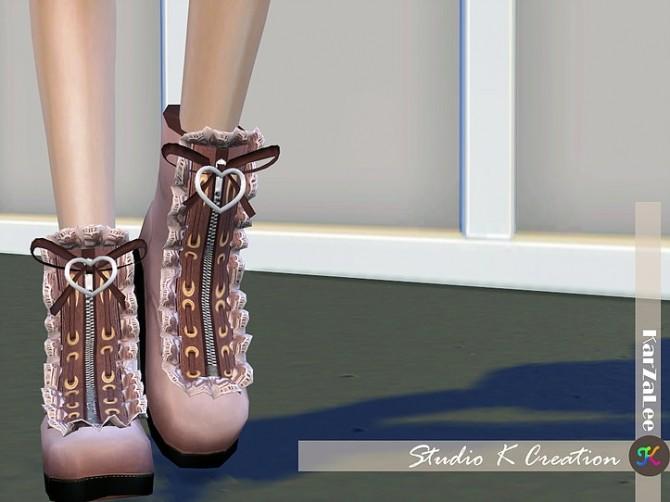 Sims 4 Short boots N4 by Baidu at Studio K Creation