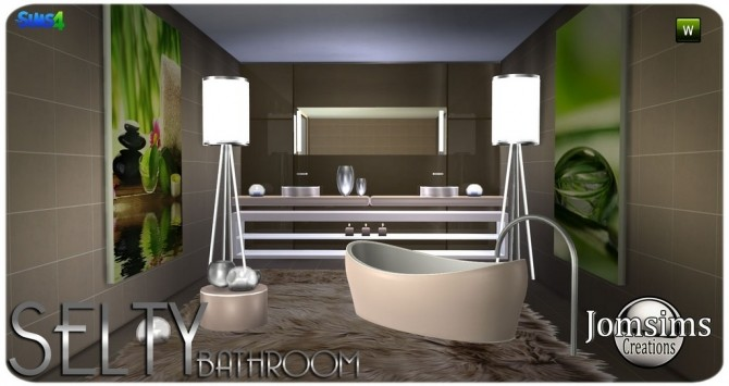Salty bathroom at Jomsims Creations image 9320 670x355 Sims 4 Updates