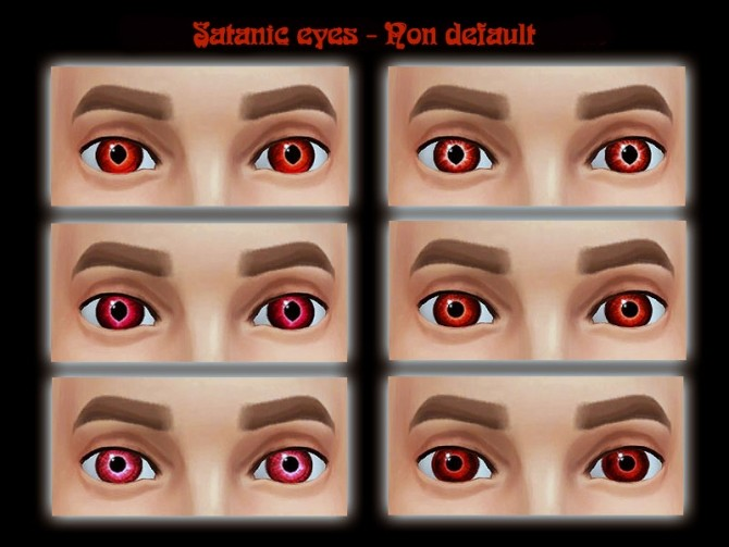 Sims 4 Updated Satanic eyes by Simalicious at Mod The Sims