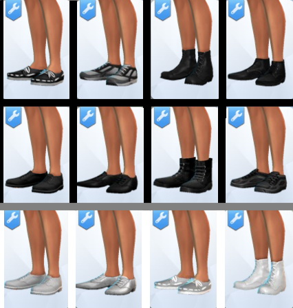 Basegames Shoes in true Black & White by NWire at Mod The Sims image 968 Sims 4 Updates