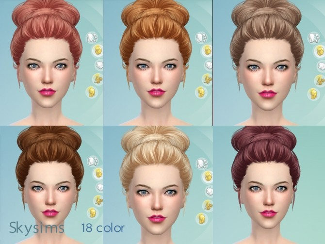 Sims 4 Hair 164 by Skysims (free) at Butterfly Sims
