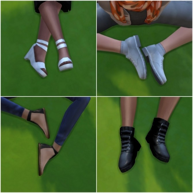 Basegames Shoes in true Black & White by NWire at Mod The Sims image 977 670x670 Sims 4 Updates