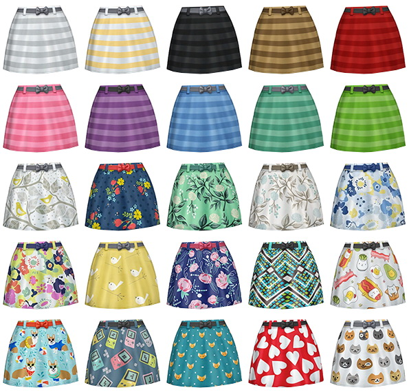 Sims 4 Bow Belted Skirts at SimLaughLove