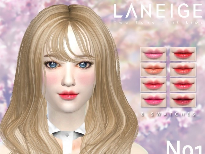 Two Tone Tint Lips N01 at iCedxLemonAde image 997 670x503 Sims 4 Updates