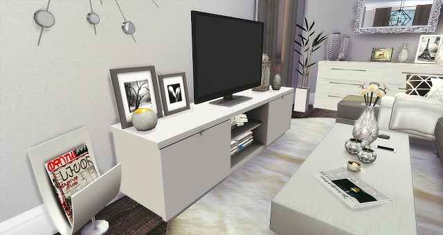Silver Livingroom and Kitchen at Liney Sims image 10013 Sims 4 Updates
