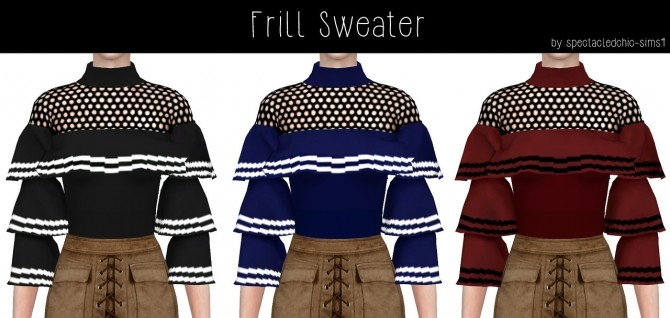 Frill Sweater at Spectacledchic Sims4 image 1006 670x318 Sims 4 Updates