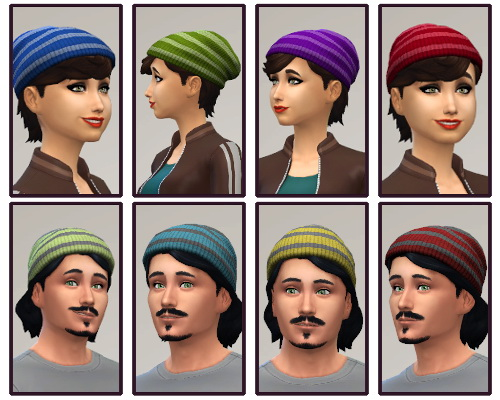 Set RC hat with stripes at CappusSims4You image 101 Sims 4 Updates