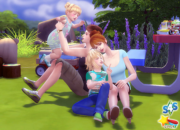 Family Pose 09 at A luckyday image 10119 Sims 4 Updates
