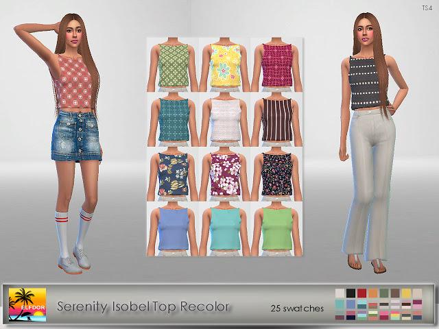 Sims 4 Serenity Isobel Top Recolor at Elfdor Sims