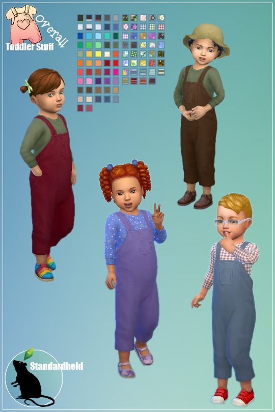 Toddler Stuff Overall by Standardheld at SimsWorkshop image 1021 Sims 4 Updates