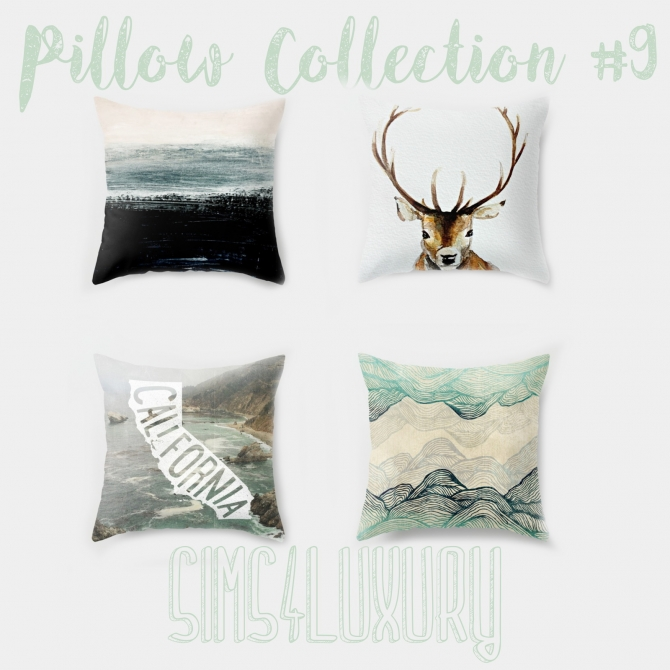 Luxury Decorative Pillow Collection : Pillow Collection #9 at Sims4 Luxury Sims 4 Updates