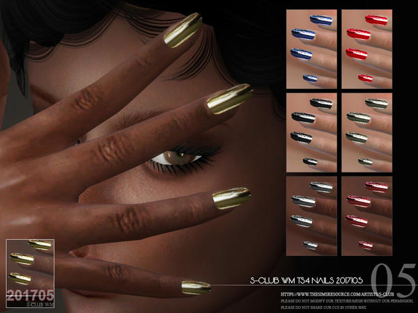 Nails 201705 by S Club WM at TSR image 1024 Sims 4 Updates