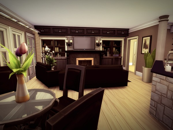 Sims 4 Baseglen house by melcastro91 at TSR