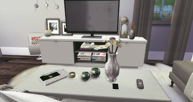 Silver Livingroom and Kitchen at Liney Sims image 10313 Sims 4 Updates