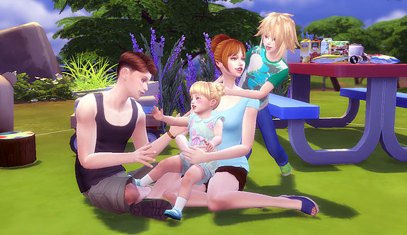 Family Pose 09 at A luckyday image 10314 Sims 4 Updates
