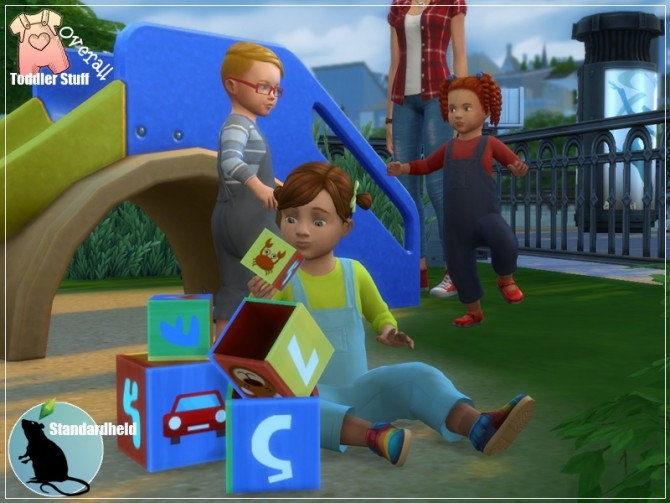 Toddler Stuff Overall by Standardheld at SimsWorkshop image 1041 670x503 Sims 4 Updates
